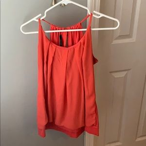 Maurice's coral sleeveless blouse